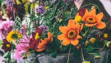 Entrega de flores no exterior